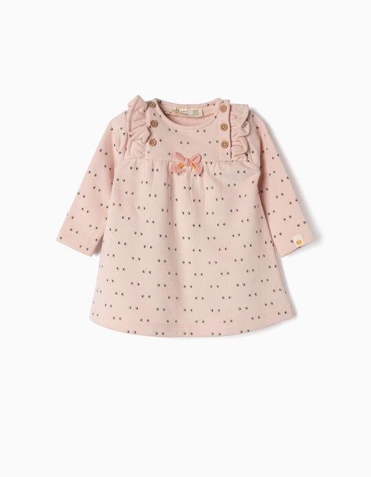 Dress for Newborn Girls 'Smile', Pink