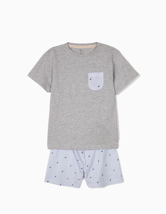 Pijama para Menino 'Paper Planes', Cinza e Azul