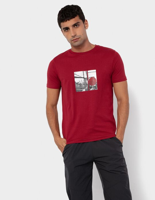 T-shirt in Organic Cotton, Red