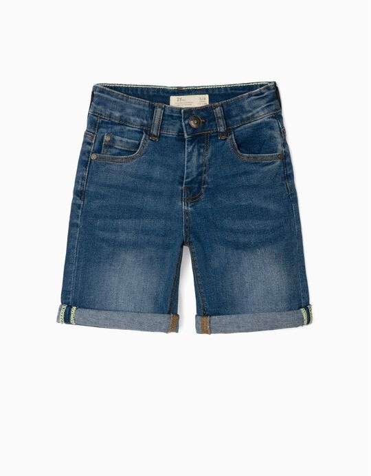 Denim Shorts for Boys, Blue