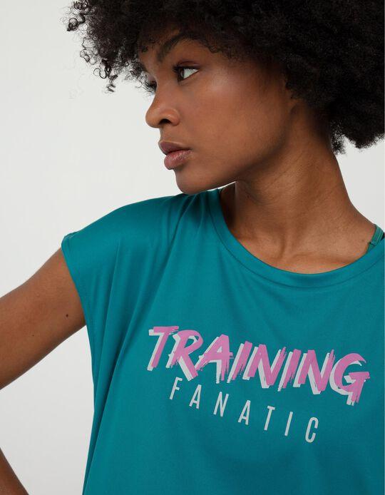 Techno T-shirt for Women, Blue