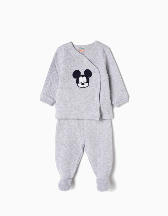 Pyjamas for Newborn Girls 'Mickey', Grey