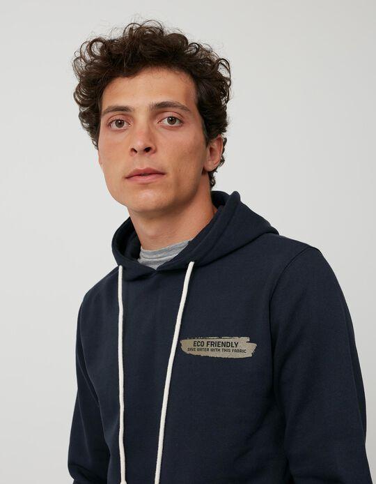 Sweatshirt Algodão Reciclado, Homem, Azul Escuro