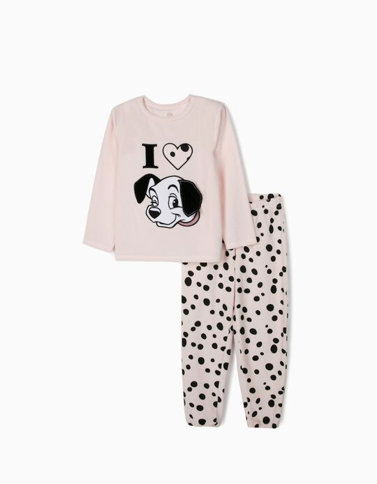 Velour Pyjamas for Girls '101 Dalmatians', Pink