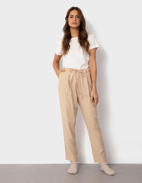 Fluid Trousers with Darts, for Women