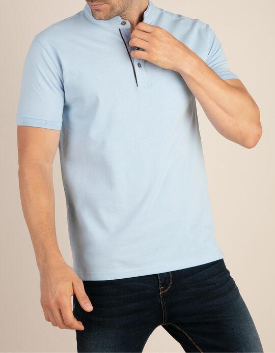 Mandarin Collar Polo Shirt
