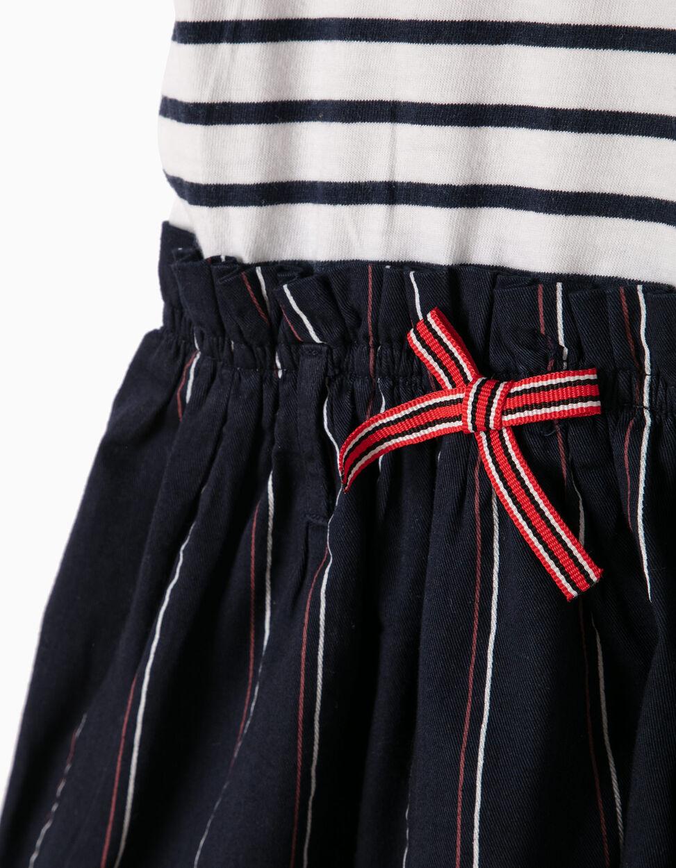 Vestido Combinado Riscas