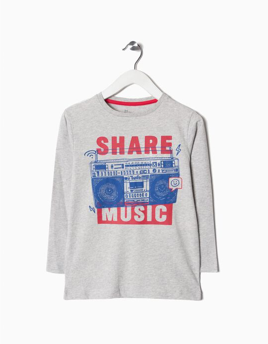 T-shirt Manga Comprida Music