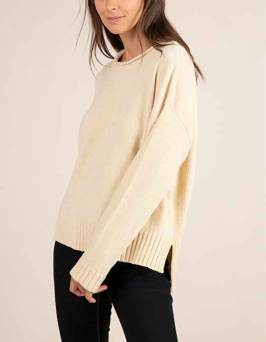 Chenille jumper with round neck, Essentials collection