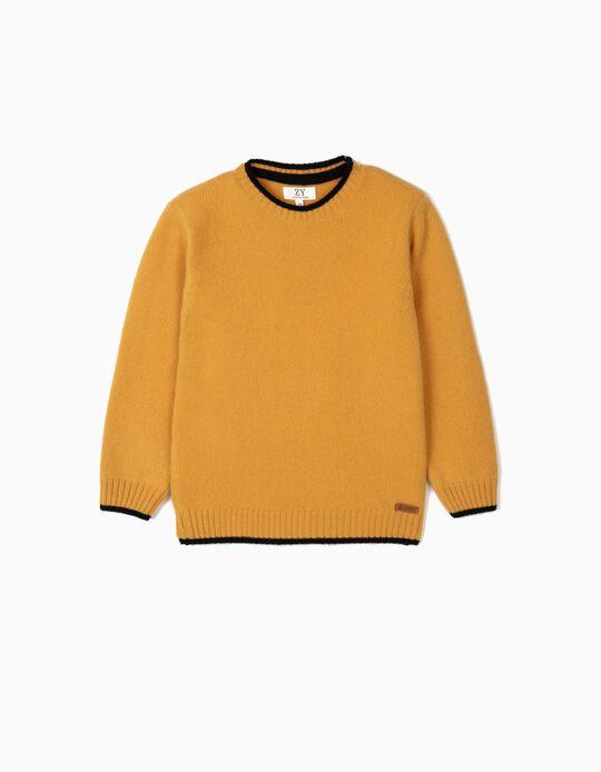 Camisola de Lã para Menino, Amarelo