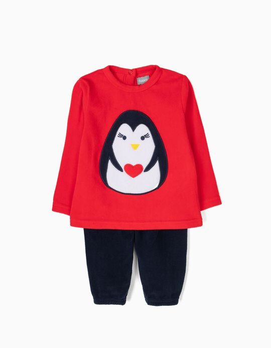 Pijama bicolor pinguim