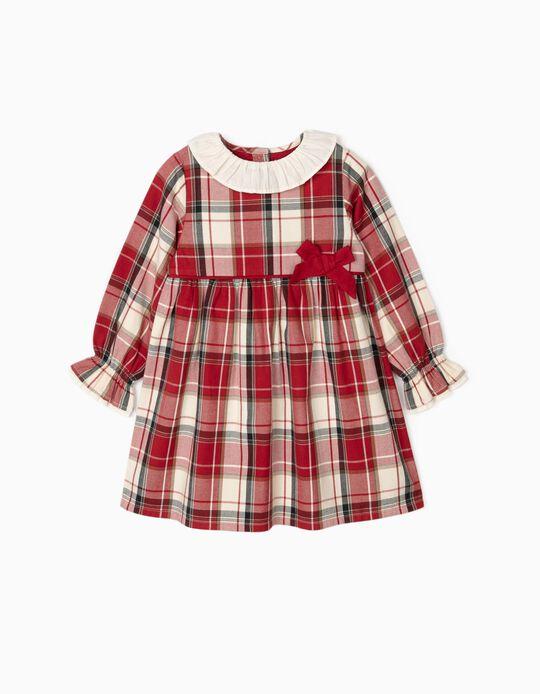 Check Dress for Girls 'B&S', Red/White
