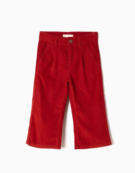 Red Ochre Corduroy Culottes