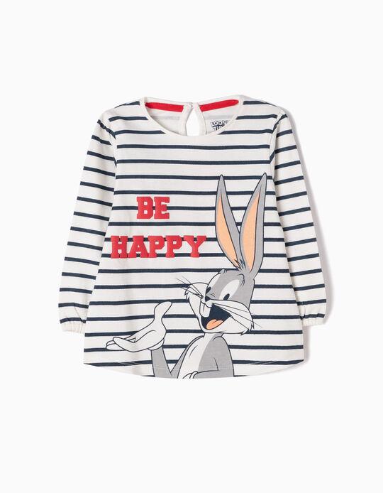 T-shirt Manga Comprida Riscas Bugs Bunny