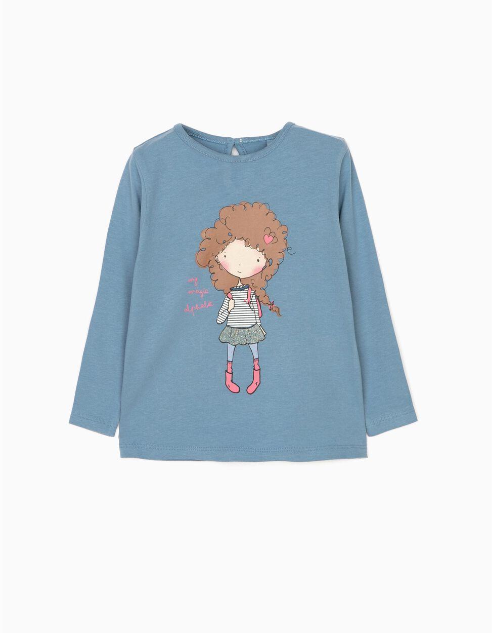 T-shirt Manga Comprida Love School Branca