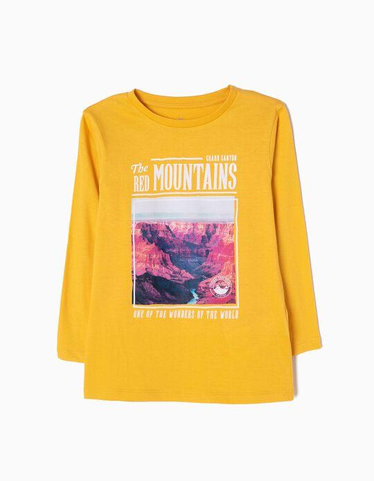 T-shirt de Manga Comprida The Red Mountains