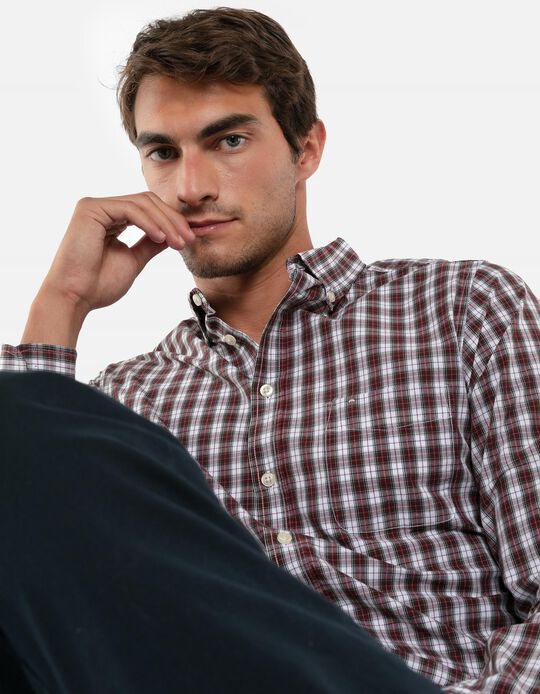 Camisa regular-fit quadrados