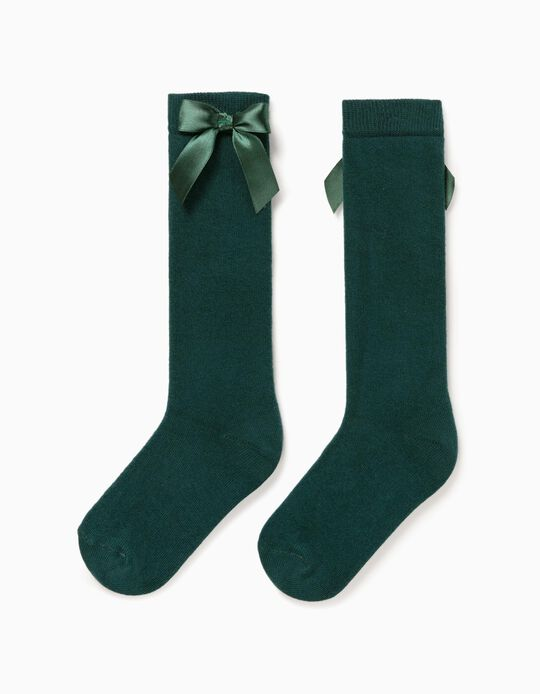 Knee-High Socks for Girls, Green