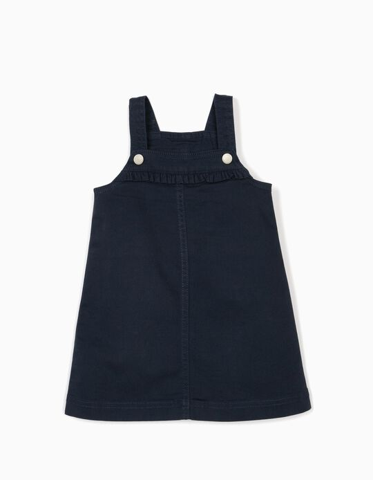 Pinafore Dress for Baby Girls, Dark Blue
