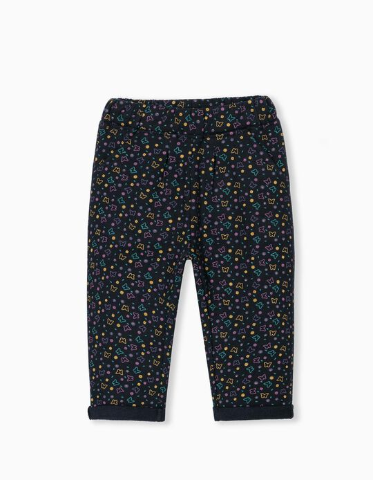 Carded Joggers, Baby Girls, Dark Blue