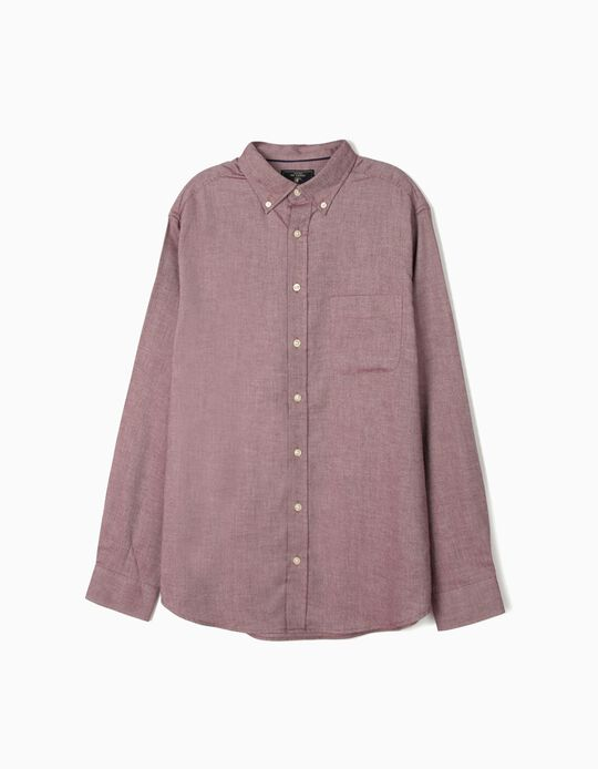 Camisa regular fit efeito mesclado