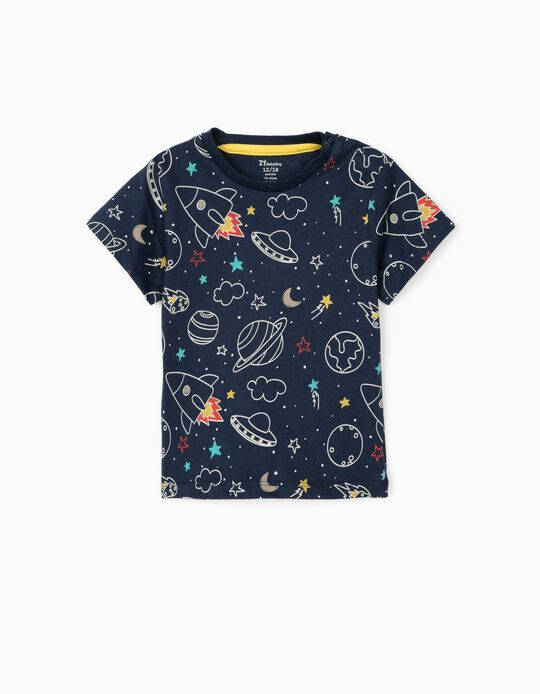 T-shirt for Baby Boys 'Space', Dark Blue