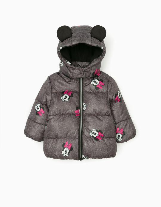 Blusão Acolchoado para Bebé Menina 'Minnie', Cinza