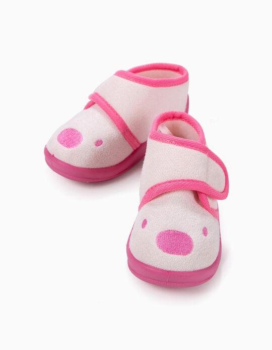 Pantufas para Bebé Menina 'Teddy Bear', Rosa