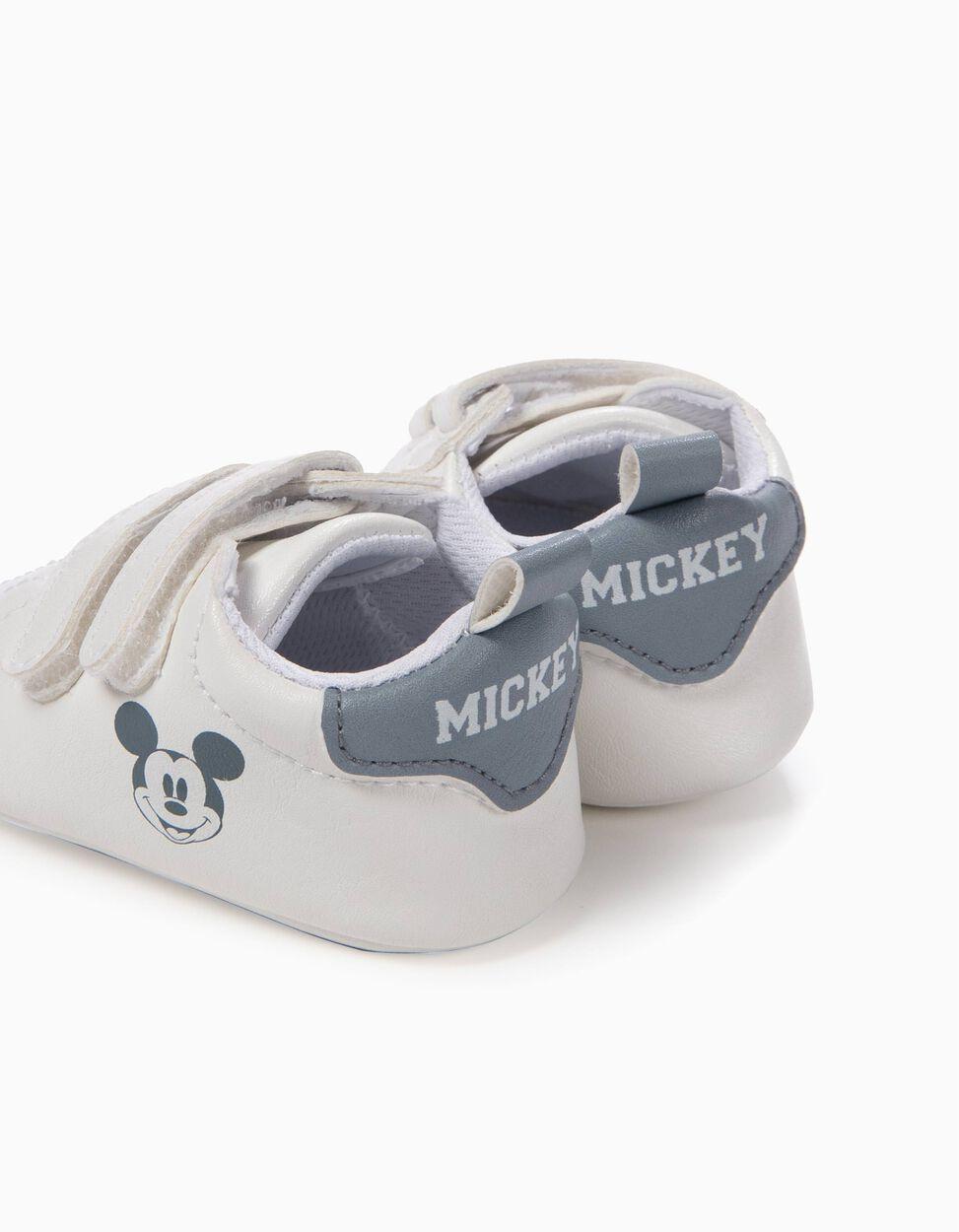 Sapatilhas Pre-Walker Mickey Brancas