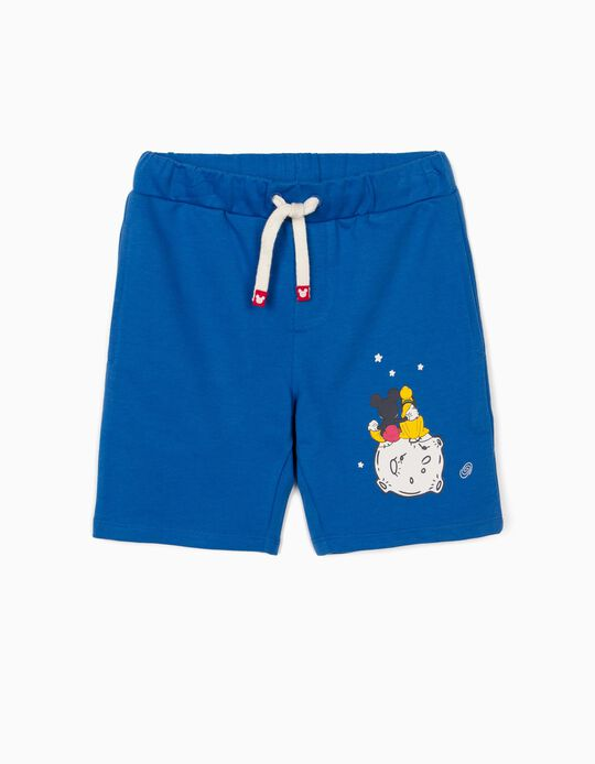 Sports Shorts for Boys, 'Mickey Mouse & Pluto', Blue