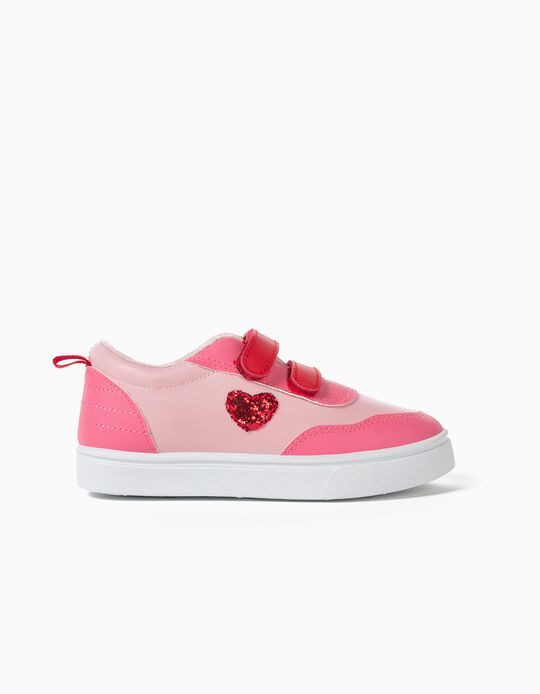 Pink 'Heart' Trainers for Girls
