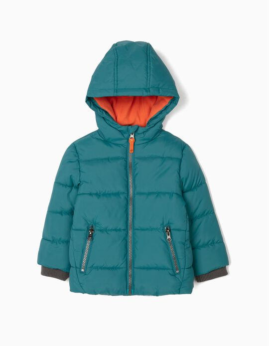Puffer Jacket for Baby Boys, Blue