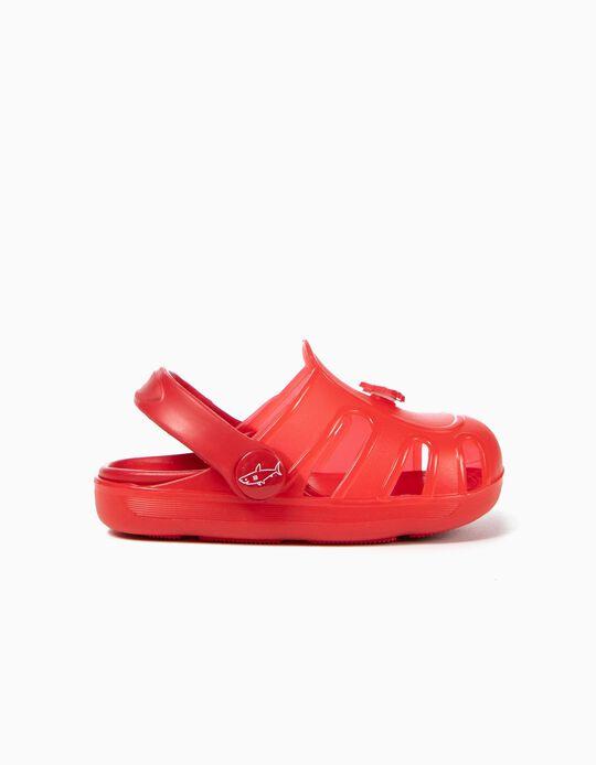 Sandálias para Bebé Menino 'Shark', Vermelho
