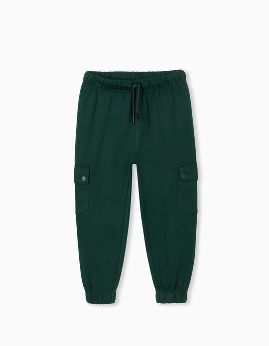 Joggers with Pockets, Kids, Green
