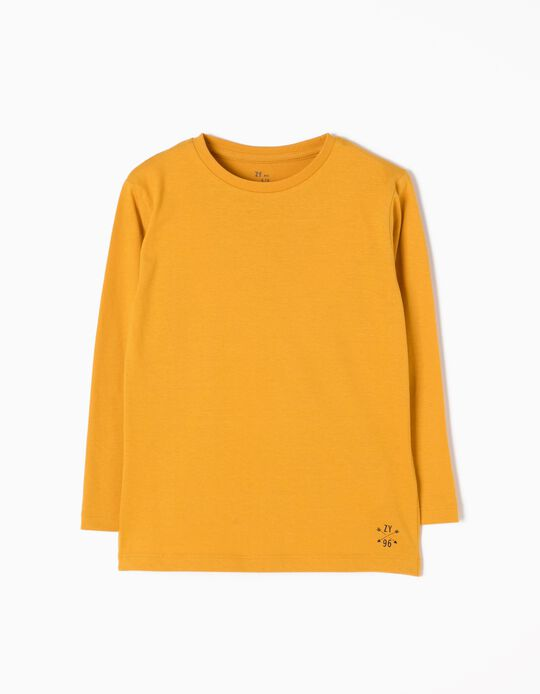 Yellow Long-Sleeved T-Shirts