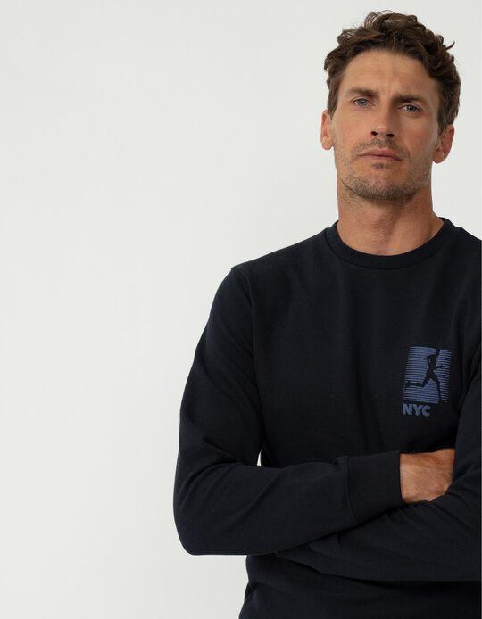 Minimalist Sweatshirt, Men, Dark Blue