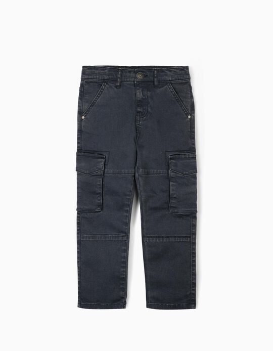 Cargo Trousers for Boys, Blue