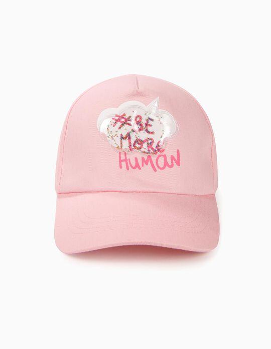 Boné para Menina '#Be More Human', Rosa