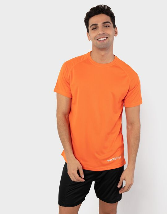 Textured T-shirt in Mesh, for Men