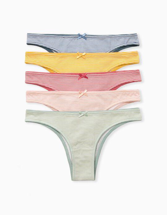 5 Striped Briefs, Women