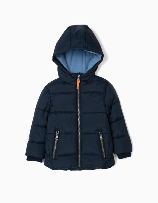 Puffer Jacket for Baby Boys, Dark Blue