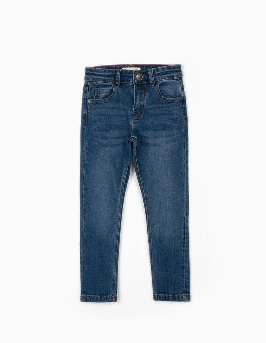 Regular Fit Denim Trousers for Boys, Blue