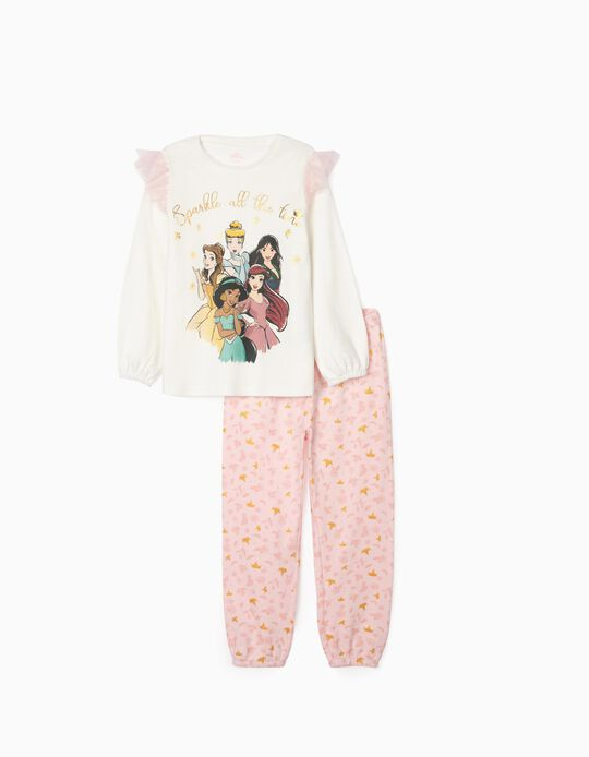 Pyjamas for Girls, 'Disney Princess', White/Pink