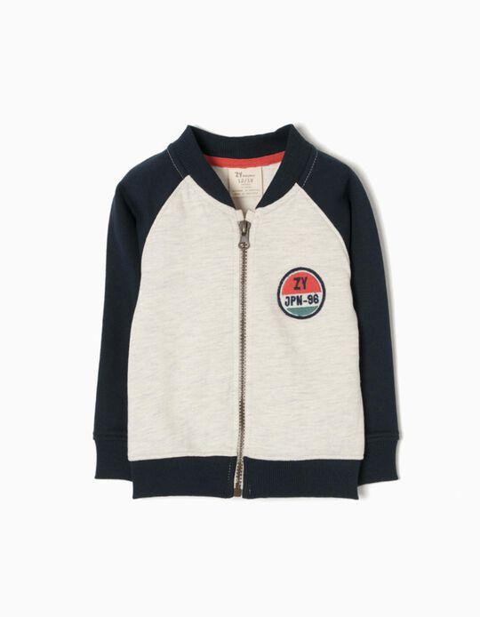 Two-Tone Plush Jacket, JPN