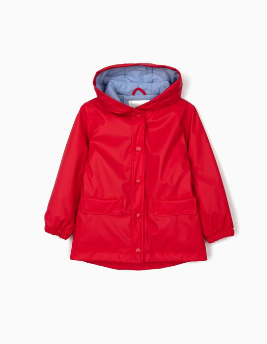 Padded Parka for Girls, Red
