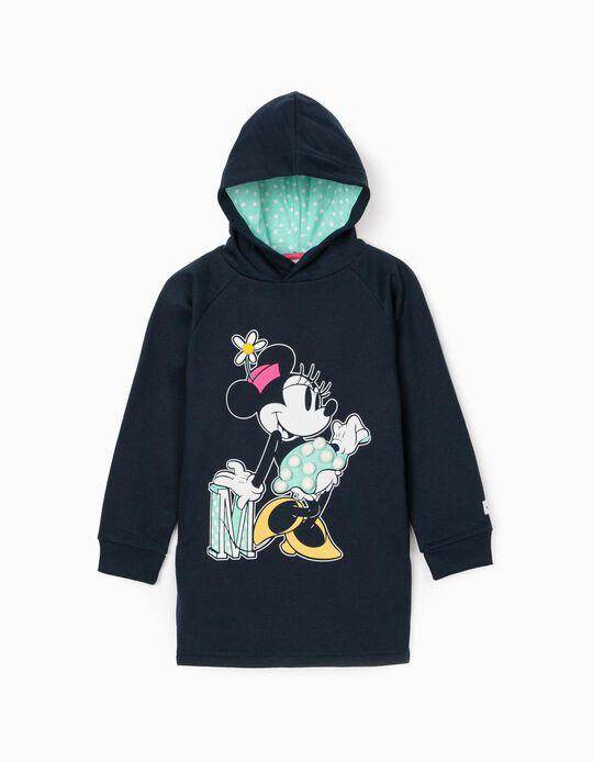 Hooded Dress for Girls 'Minnie', Dark Blue