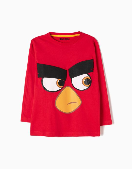 Red Long-Sleeved Top, Angry Birds