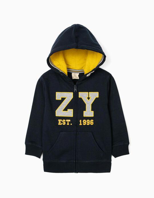 Hooded Jacket for Boys, 'ZY 1996', Dark Blue