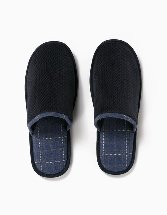Plaid Bedroom Slippers, Men