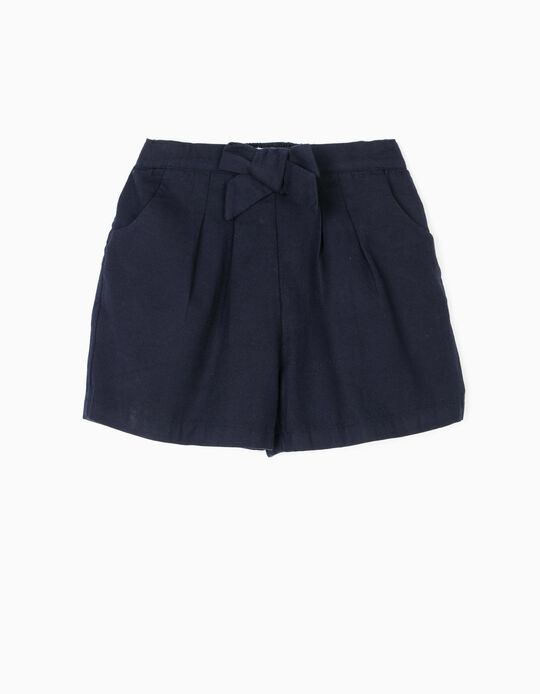 'B&S' Shorts with Bow for Girls